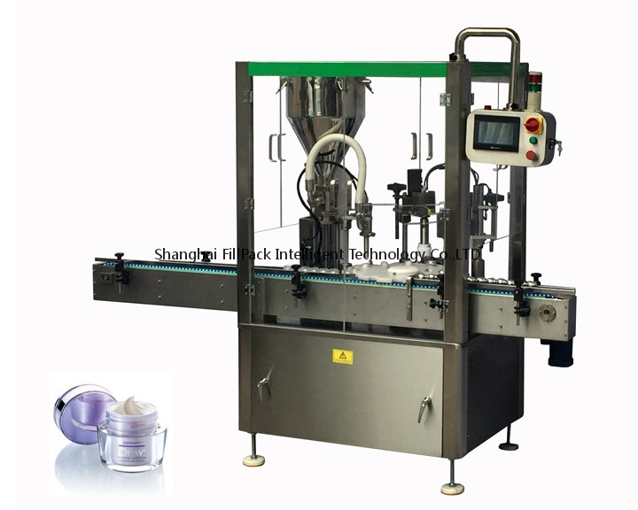 Cream Jar Filling And Capping Machine