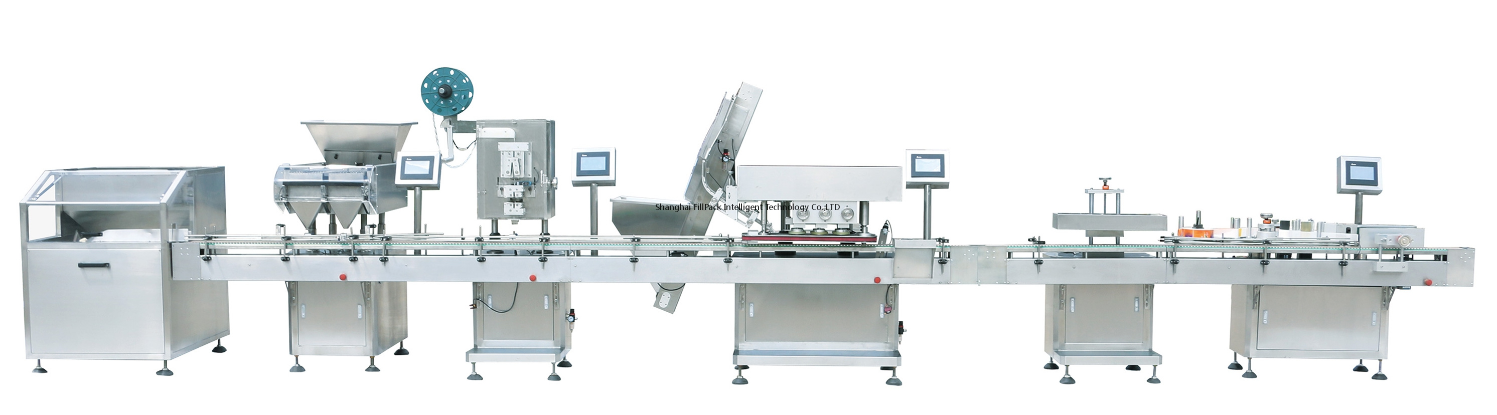 Tablet Counting Filling Capping And Labelling Machine Line