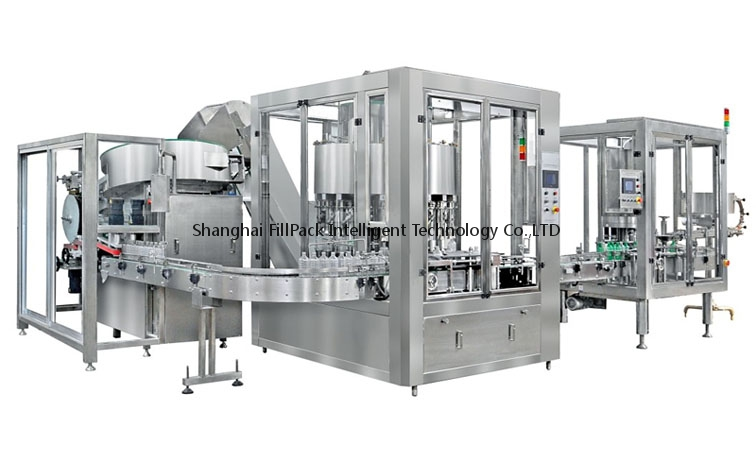 High Speed Rotary Oil Filling Capping Machine